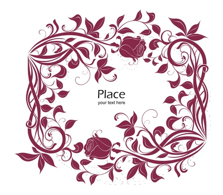 flowerhead: ornate frame with roses