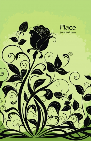 flowerhead: background with roses