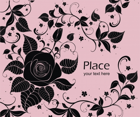 flowerhead: vector background with roses