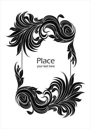 hape: decorative vector frame Illustration