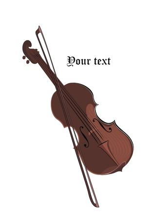 fiddlestick: violin Illustration