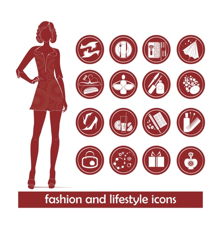 fashion and lifestyle  icons Stock Vector - 18535093