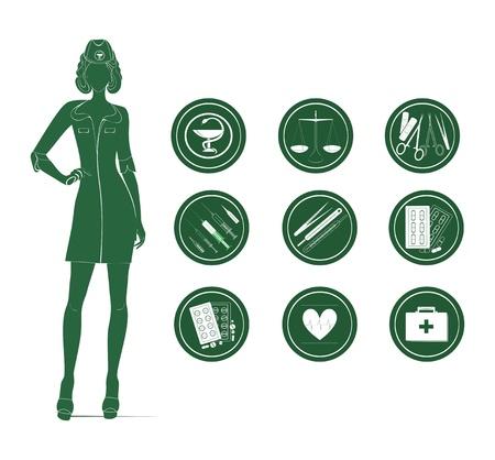 enfermera quirurgica: m�dicos y de salud iconos