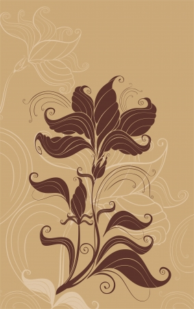 flowerhead: vector abstract background ready to place your art or text Illustration