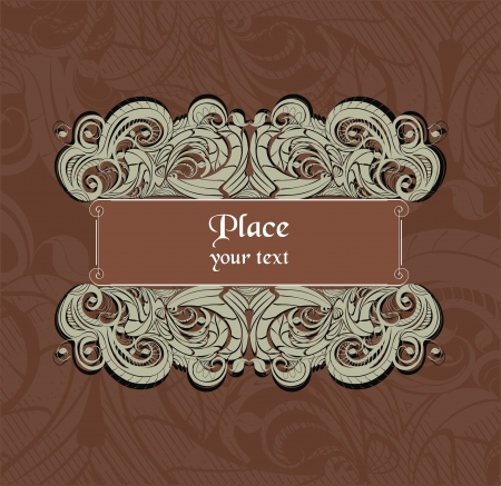 vector decorative frame in vintage style Stock Vector - 20309524