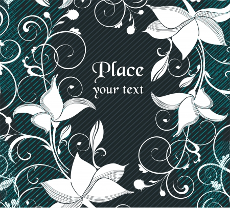 flower background  ready to place your art or text  Vector