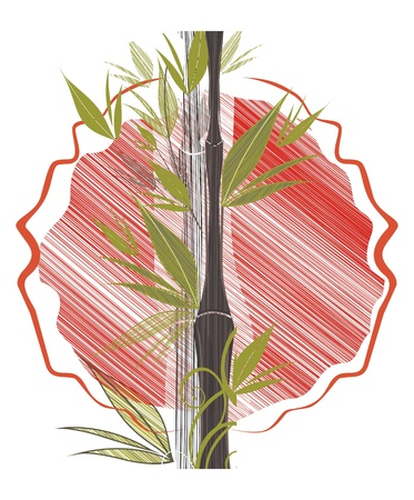 rising sun: rising sun and bamboo Illustration