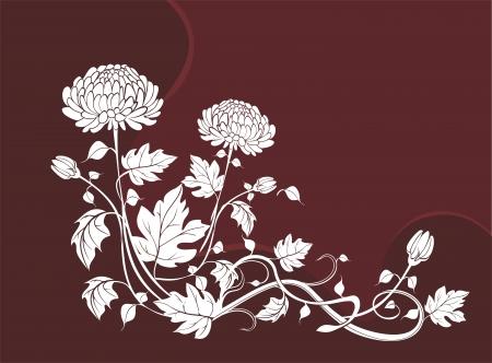 Elegant  flower background with chrysanthemums Stock Vector - 21744924