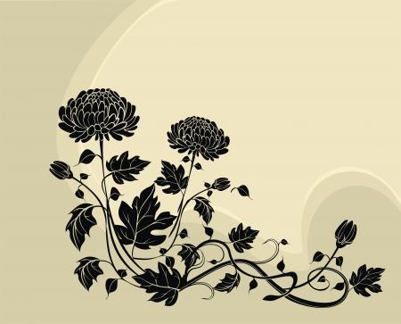 Elegant  flower background with chrysanthemums Stock Vector - 21744927
