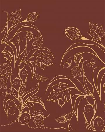 vegetate: Background with garden plants