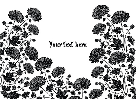 golden daisy: Elegante fondo con flores de crisantemos Vectores