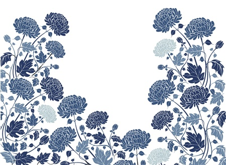 Elegant  flower background with chrysanthemums Stock Vector - 21744938