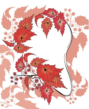 Flower background with begonia plant Stock Vector - 21744946