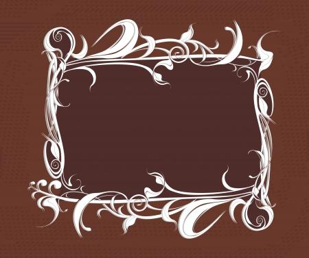 nostalgy: decorative vector frame on the grunge background