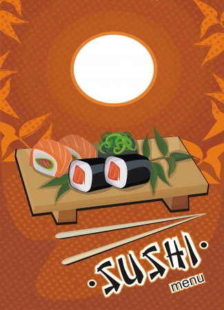 sushi menu template - vector drawing Vector