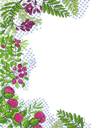 elegant garden background  ready to place your text  Vector