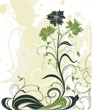 vegetate: Vector background with flowers Illustration