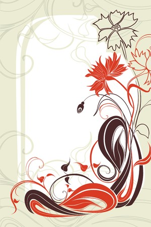 flowerhead: Vector background with flowers Illustration
