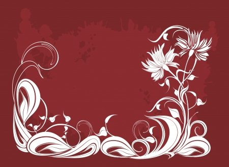 vegetate: Vector background with flowers in grunge style Illustration