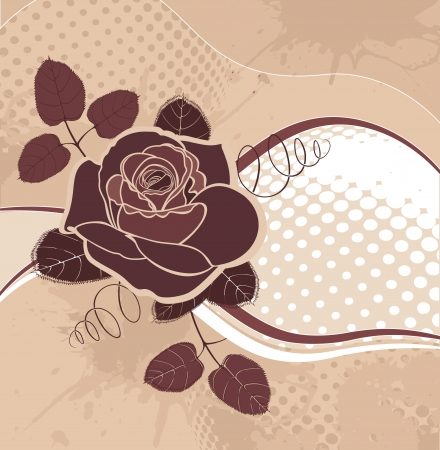 vector background with roses in grunge style Vector