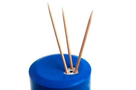 toothpick: Toothpick on a white background Stock Photo
