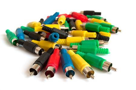adapters: Colour adapters on a white background