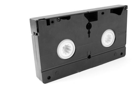 videocassette: Videocassette on a white background