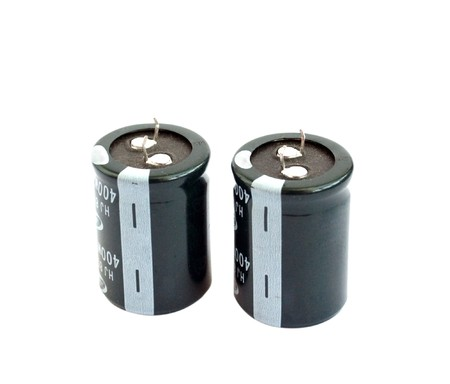 capacitors: capacitors against a white background