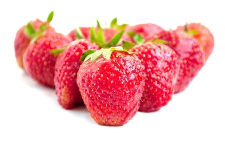 Strawberry on a white background photo