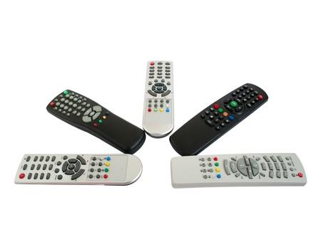 remote controls: remote controls on a white background