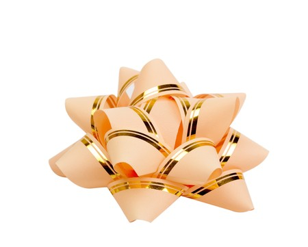 Gift bow on a white background photo