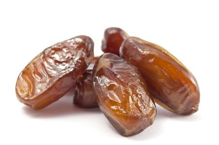 deglet: dates on a white background