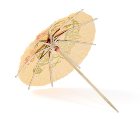 umbrella for cocktails on a white background photo