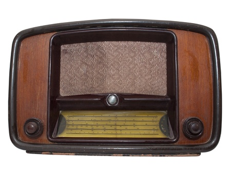 Retro Radio on a white background Stock Photo - 8625758