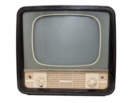 vintage objects: Retro TV on a white background