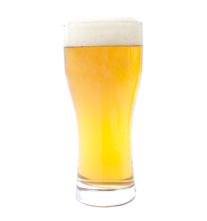 tall glass: glass of beer on white background