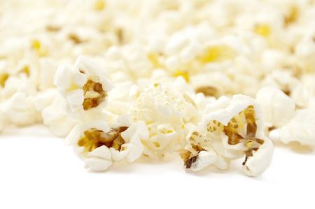 popcorn on white background Stock Photo - 9261938