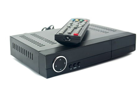 receiver: Digital TV on white background