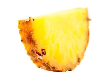 pineapple on white background photo