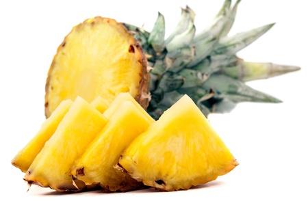 pineapple slice: pineapple on white background