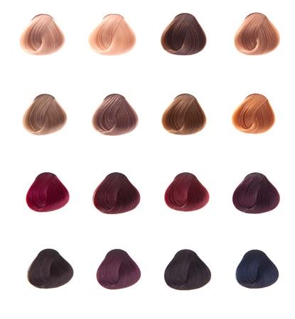 leíró szín: haj minta különböző színű