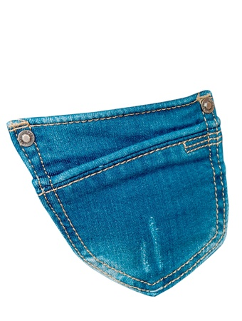 cloth back: jeans pocket on a white background Stock Photo