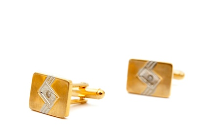 cufflinks on a white background Stock Photo - 9573317