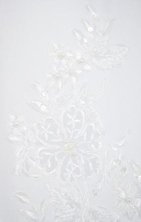 texture of a white wedding dress Stock Photo - 9573694