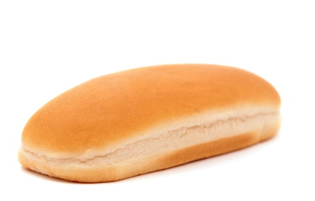 bun for the hot dog on a white background photo