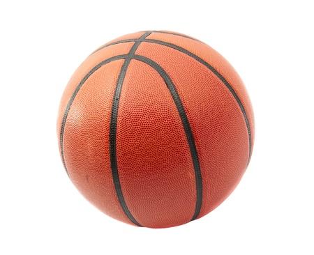 basket: palla da basket su uno sfondo bianco
