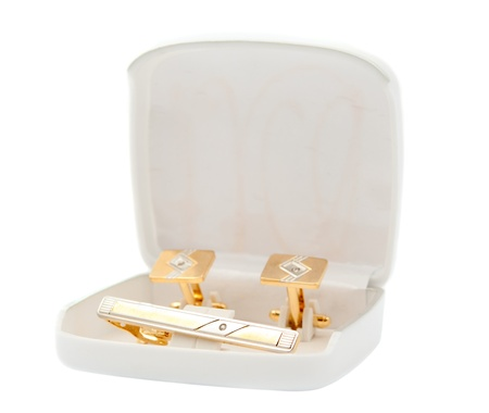 cufflinks on a white background Stock Photo - 9644889