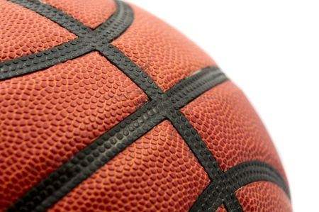 basketball ball on a white background photo
