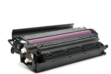 cartridges: Cartridge for laser printer on white background Stock Photo