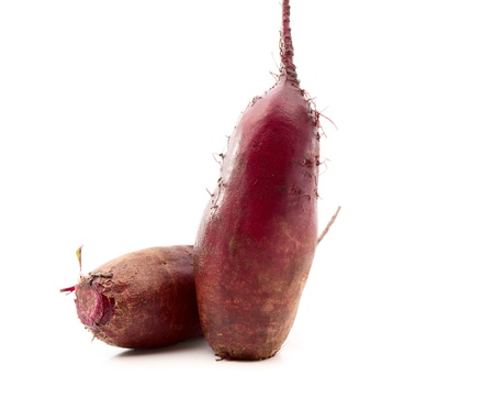 beet on white background photo
